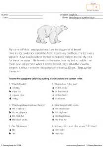 reading comprehension worksheets multiple choice reading