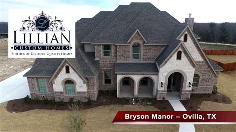 lillian custom homes bryson manor model
