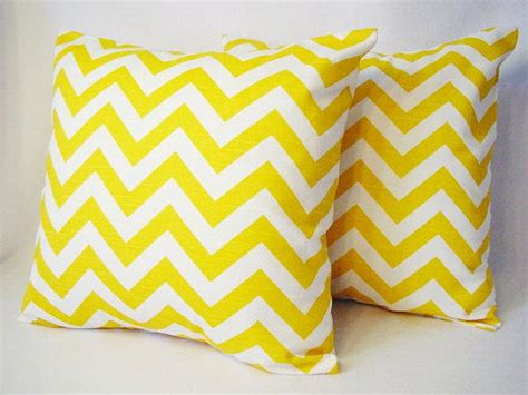 Yellow Chevron Pillow by 2 Chevron Decorative Pillow Covers Yellow From
