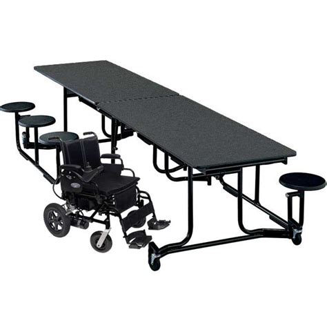 Cafeteria Tables With Stools by Ki Uniframe Wheelchair Accessible Cafeteria Stool Table