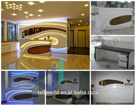 Glass Table Top new shape of reception desk luxury hotel reception desk