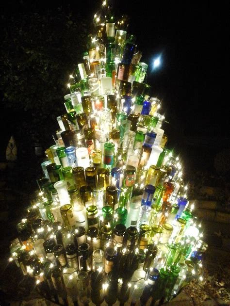 wine bottle tree diy pinterest