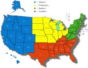 us regions map lesson module the five regions of the united states