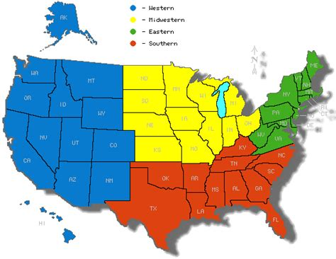 map of us states by region lesson module the five regions of the united states