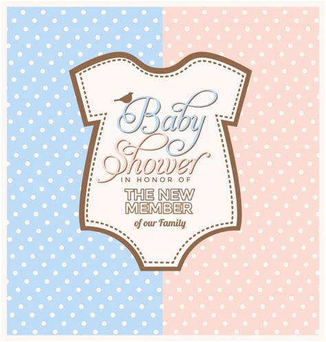 baby shower invitation design vector free download
