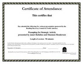 Certificate Of Attendance Conference Template by Best Photos Of Sle Certificate Of Attendance Template