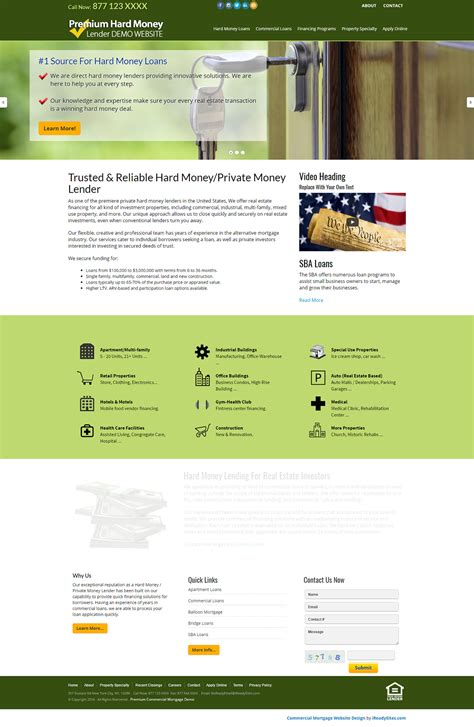 Commercial Mortgage Website Templates Mortgage Website Templates