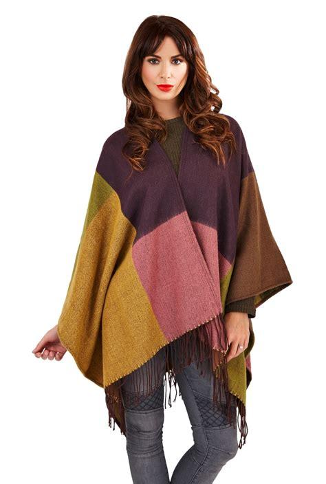 Scarf Shawl Kode B womens warm winter poncho wrap knitted shawl throw cape scarf one size ebay