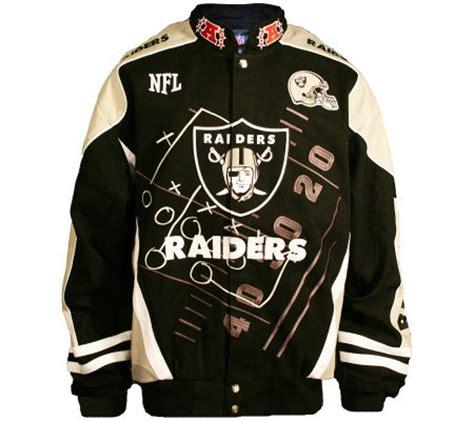 qvc nfl fan shop nfl oakland raiders scoreboard jacket qvc com