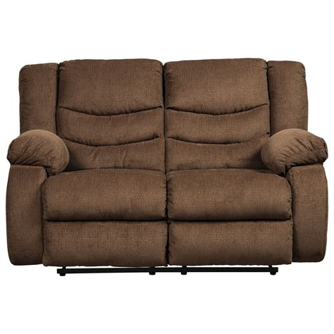 reclining loveseat ashley furniture signature design by ashley tulen contemporary reclining