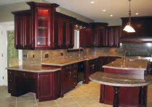 modern cherry red kitchen cupboards home design and