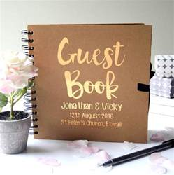 wedding guest book personalised wedding guest book by the alphabet gift shop notonthehighstreet