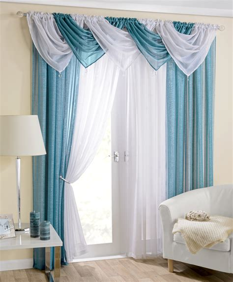Teal Swag Curtains Casablanca Teal Voile Swag