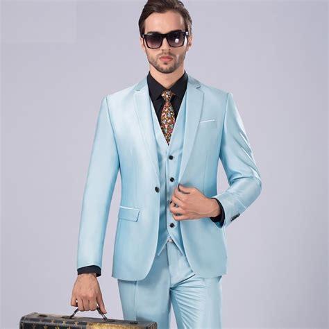 light blue suit wedding new style light blue slim fit men s suits formal wedding
