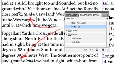 tutorial grep indesign indesign grep styles 1 setting text between parentheses