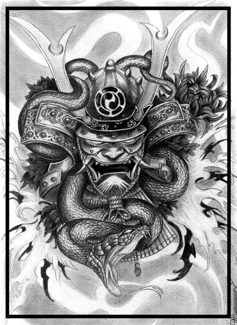 tattoo sketch in japanese style pencil 4h and 8b about