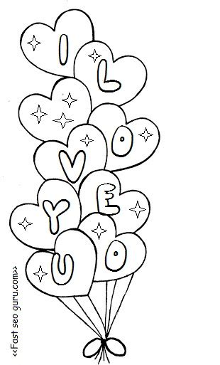 heart balloon coloring page heart balloons coloring pages