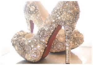 sparkly cinderella wedding shoes