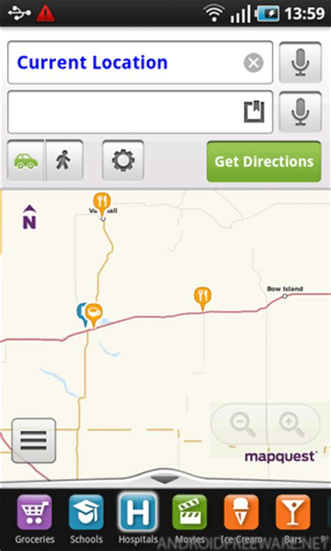 mobile mapquest mapquest free apk android app android freeware