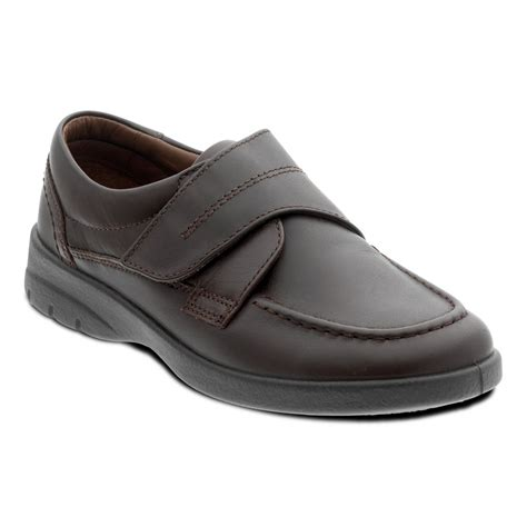 velcro shoes padders mens solar brown velcro fastened shoes