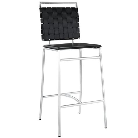 Bar Stools With Chrome Legs by Fuse Modern Bar Stool With Webbed Back And Chrome Finished