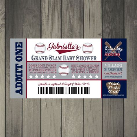 Baby Shower Baseball Ticket Invitations by Baseball Baby Shower Invitation Baseball Ticket Invitation