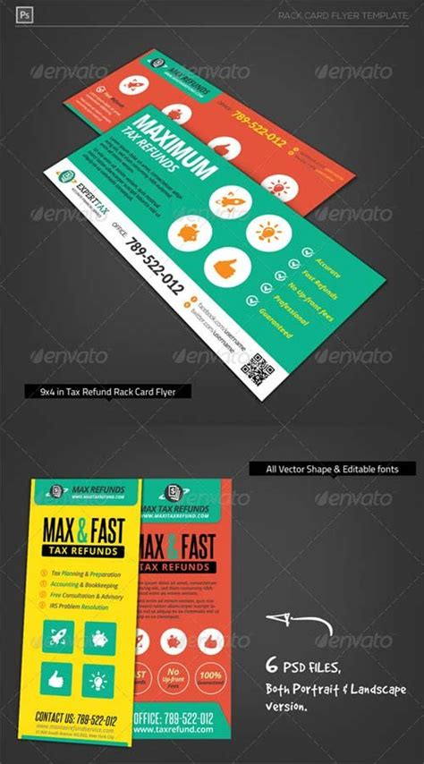 9x4 card template flyer templates graphicriver corporate tax refund