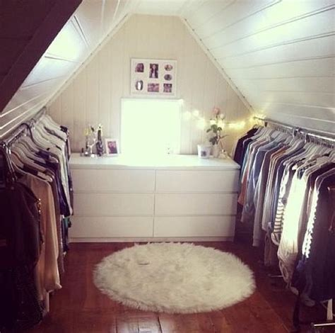 attic as a walk in closet for the home