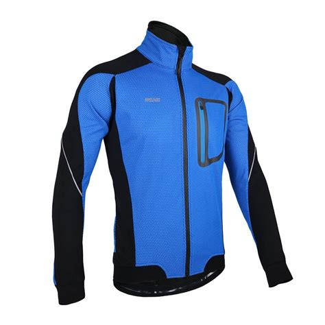 mtb winter jacket arsuxeo winter warm thermal cycling long sleeve jacket