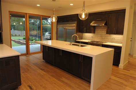 diy kitchen island waterfall edge kitchens i want to island with thick quartz top and waterfall edge kitchen