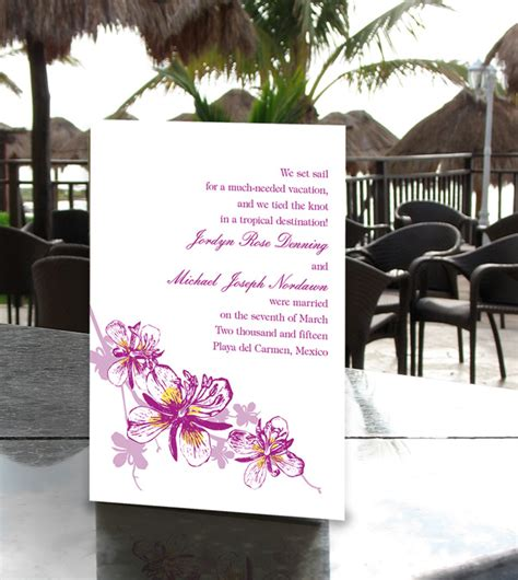 Wedding Announcements After The Wedding by Proper Wedding Announcement Wording And Etiquette