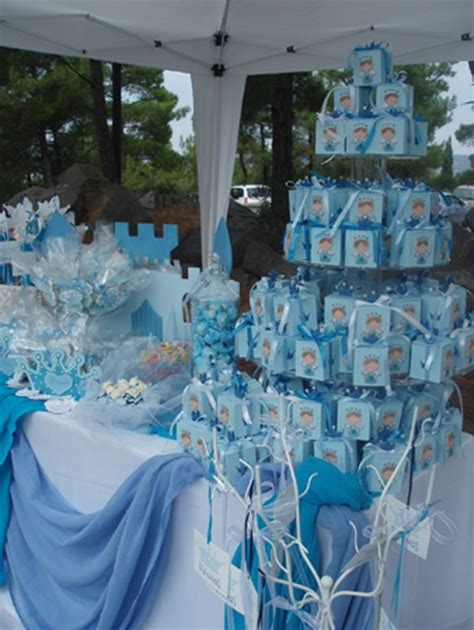 mesa de baby shower nino