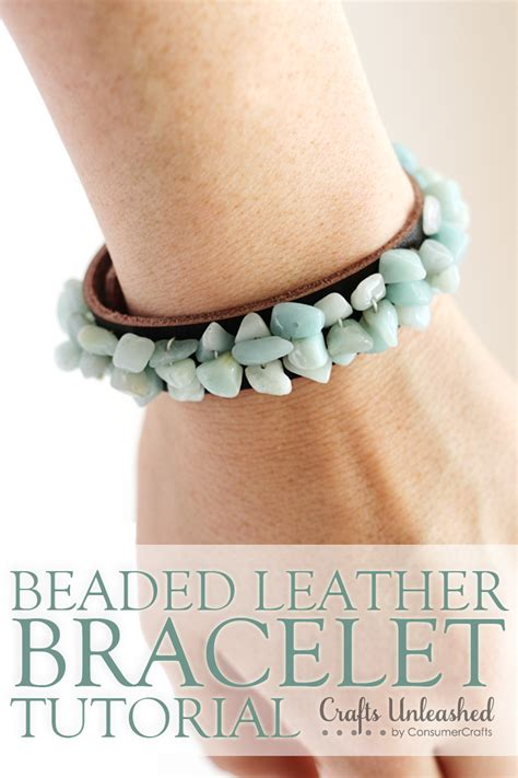leather bracelets for bead jewelry tutorial