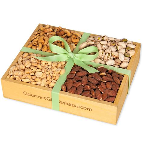 Nuts Gifts For - roasted nuts gift crate by gourmetgiftbaskets