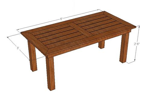 simple outdoor table plans  woodworking