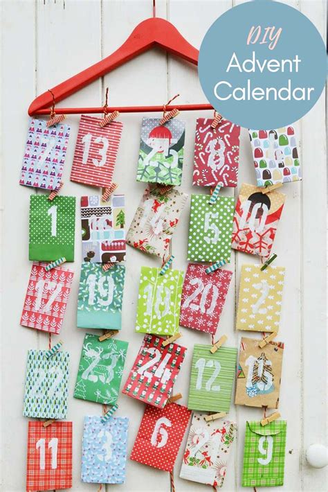 make your own advent calendar template paper envelope advent calendar pillar box blue