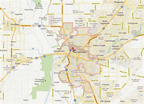 sacramento california map sacramento california map