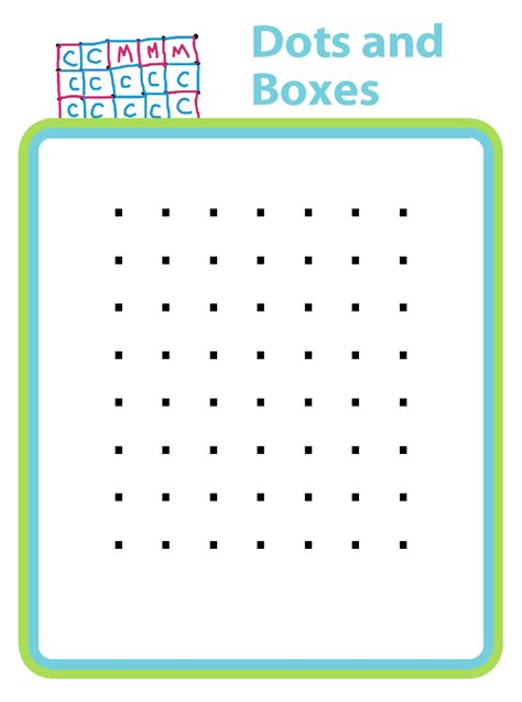 dot to dot box game printable dots and boxes a printable 2 person game for kids