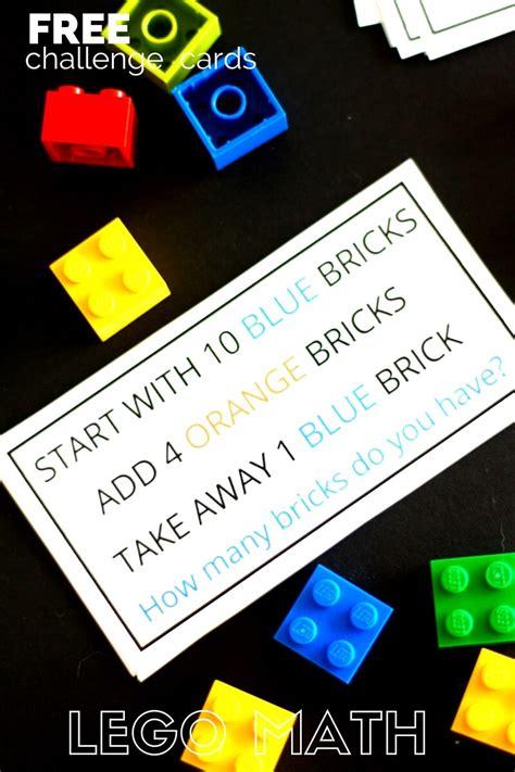 lego math challenge cards  math skills  breeze