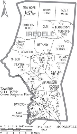 map of carolina townships map of iredell county carolina the wiki