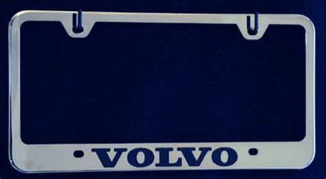 volvo license plate frame volvo stainless steel license plate frames tag holders