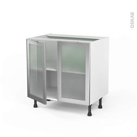 Incroyable Changer Porte Meuble Cuisine #2: porte-alu-vitre-sokleo-meuble-bas-cuisine-2-portes-l80xh70xp58-face-oskab.jpg