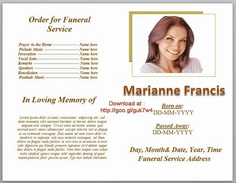 funeral service program template word 79 best images about funeral program templates for ms word