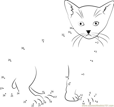 printable dot to dot cat look cat you dot to dot printable worksheet connect the dots