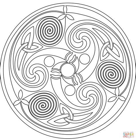 spiral mandala coloring pages celtic spiral mandala coloring page free printable
