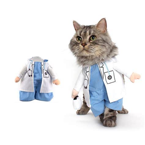 cat clothes cat costume doctor suit pet dogs clothes