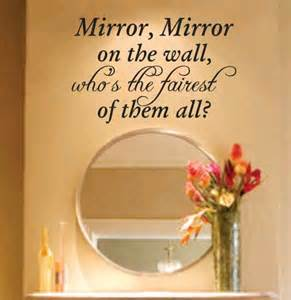 mirror mirror on the wall decal sticker family art graphic vinyl wall decal sticker mirror mirror on the wall