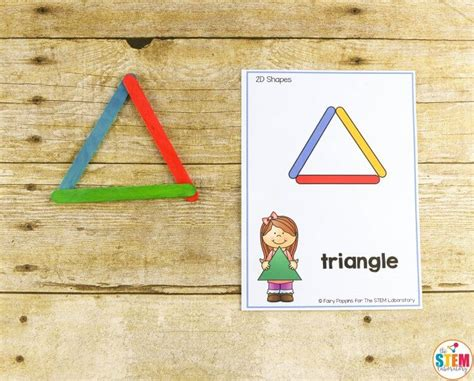 Sticks Card Template by Building Shapes Stem Cards The Stem Laboratory