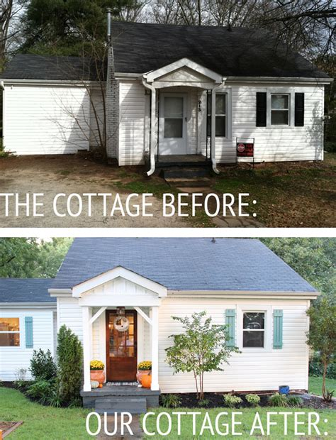 our cottage exterior before after