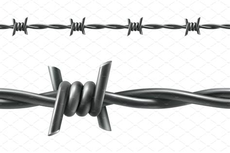 The Barbed Wire by Barbed Wire Icons Creative Market